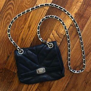 Ann Taylor crossbody black bag with gold chain